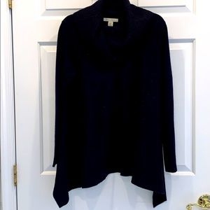 Cowell neck long loose fitting sweater Navy